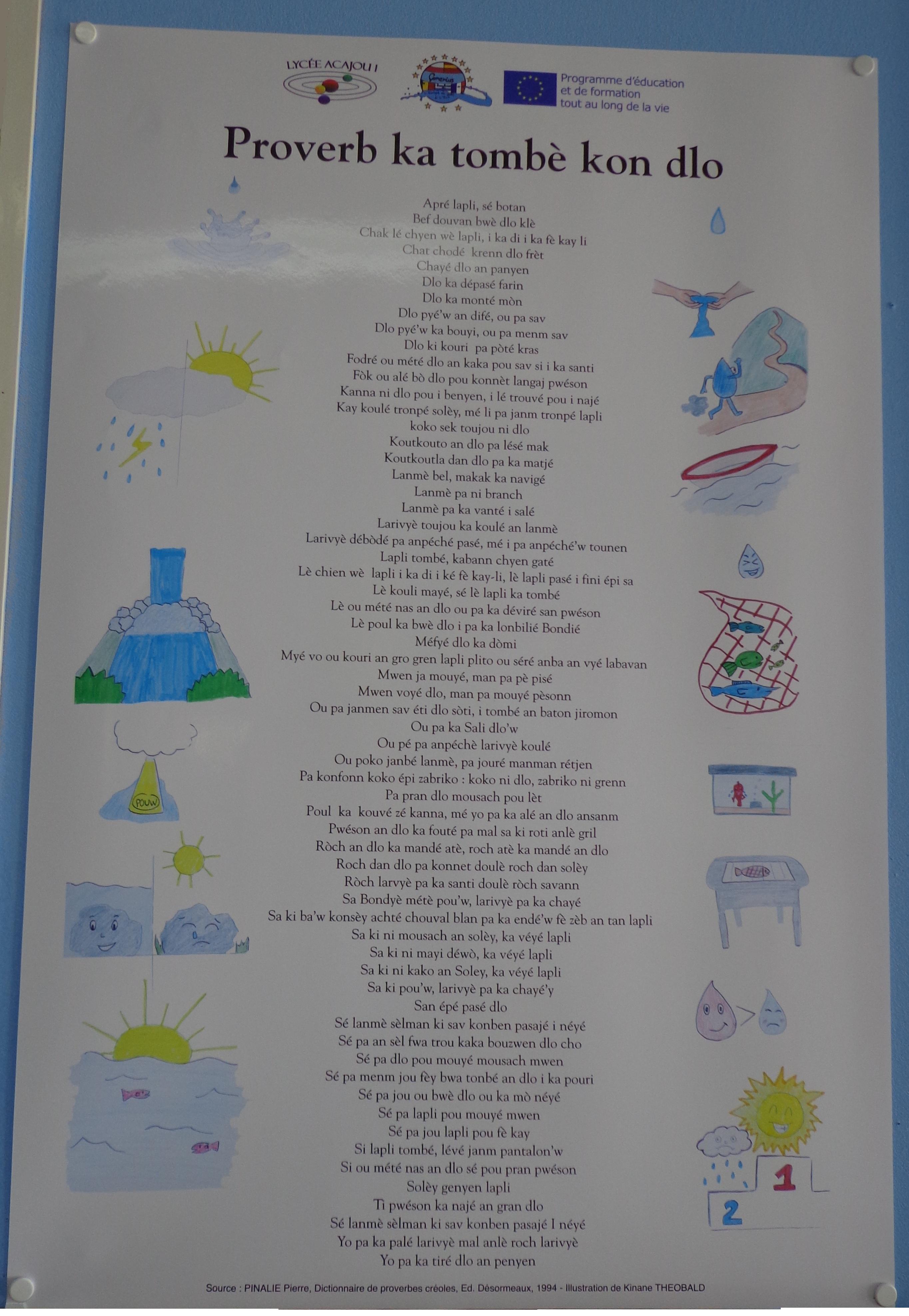 affiche proverbe créoles
